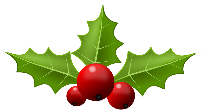 800x439 Christmas Holly Clipart