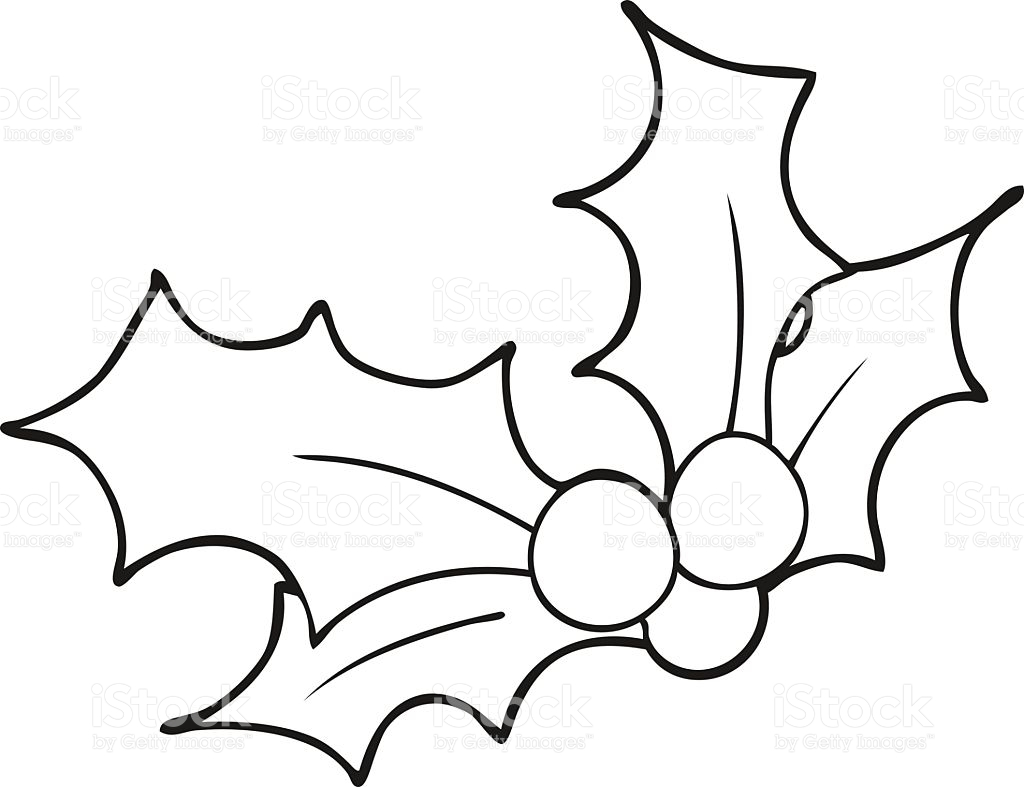 1024x787 Clip Art Holly Leaves Black And White Clipart Collection