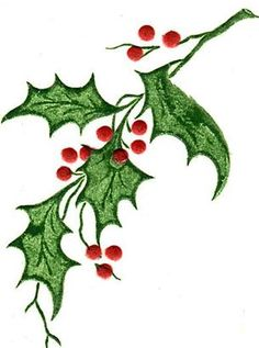 236x317 Holly Branches Clip Art