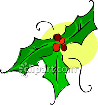 327x350 Holly Leaf And Berries Clip Art Clipart