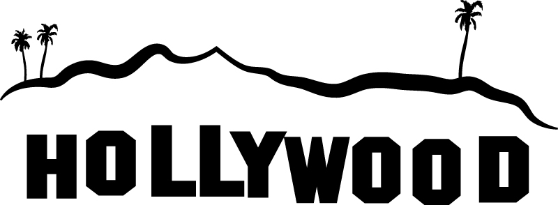 800x294 Letter Clipart Hollywood