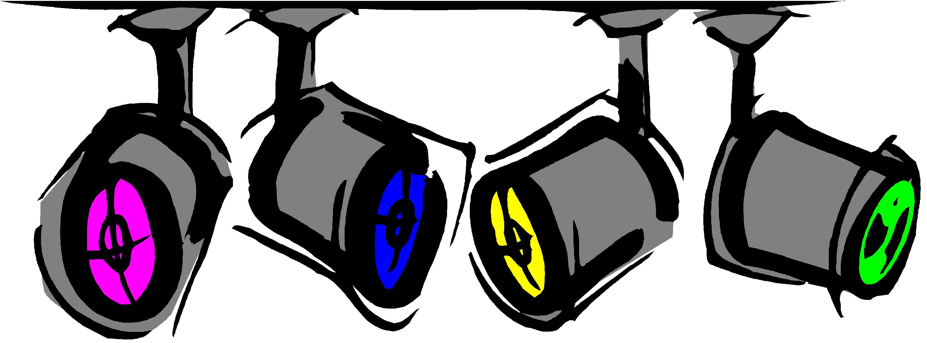 3096x1146 Free Hollywood Spotlight Clipart Creative Clipartllection