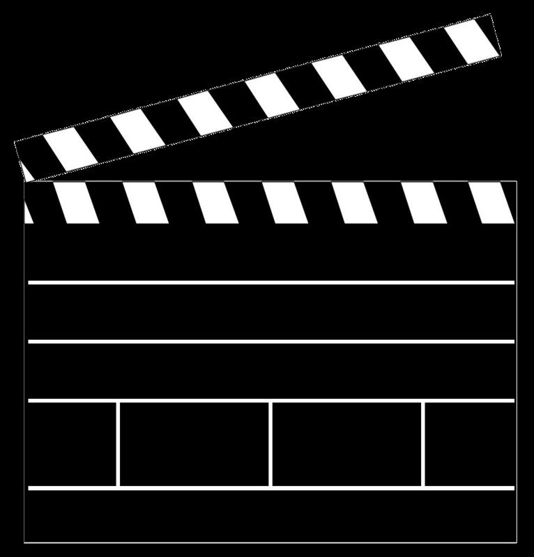 766x800 Clapper Board Clip Art