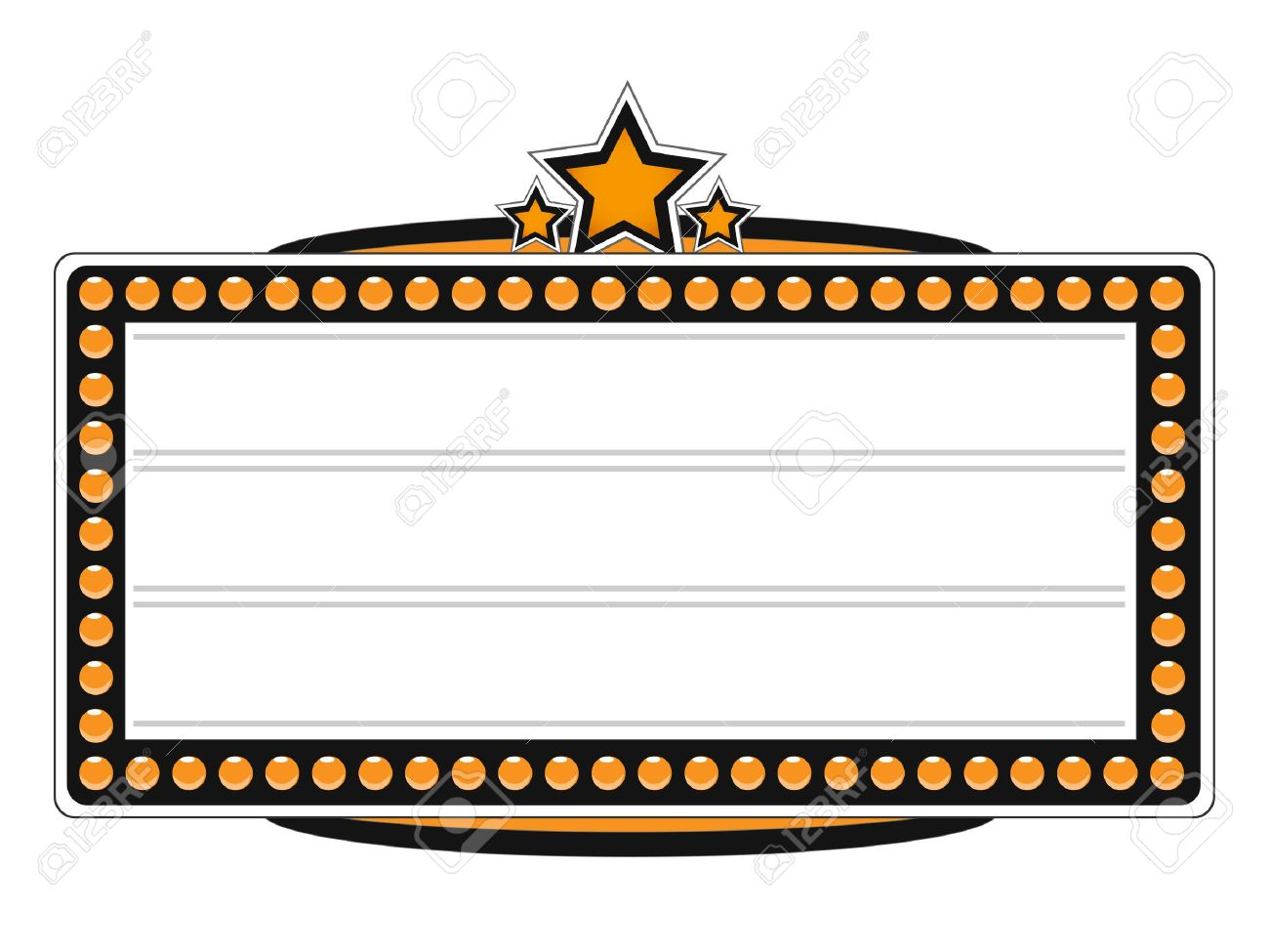 1300x975 Movie Marquee Clipart Black And White