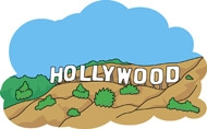 190x118 Hollywood Sign Clipart