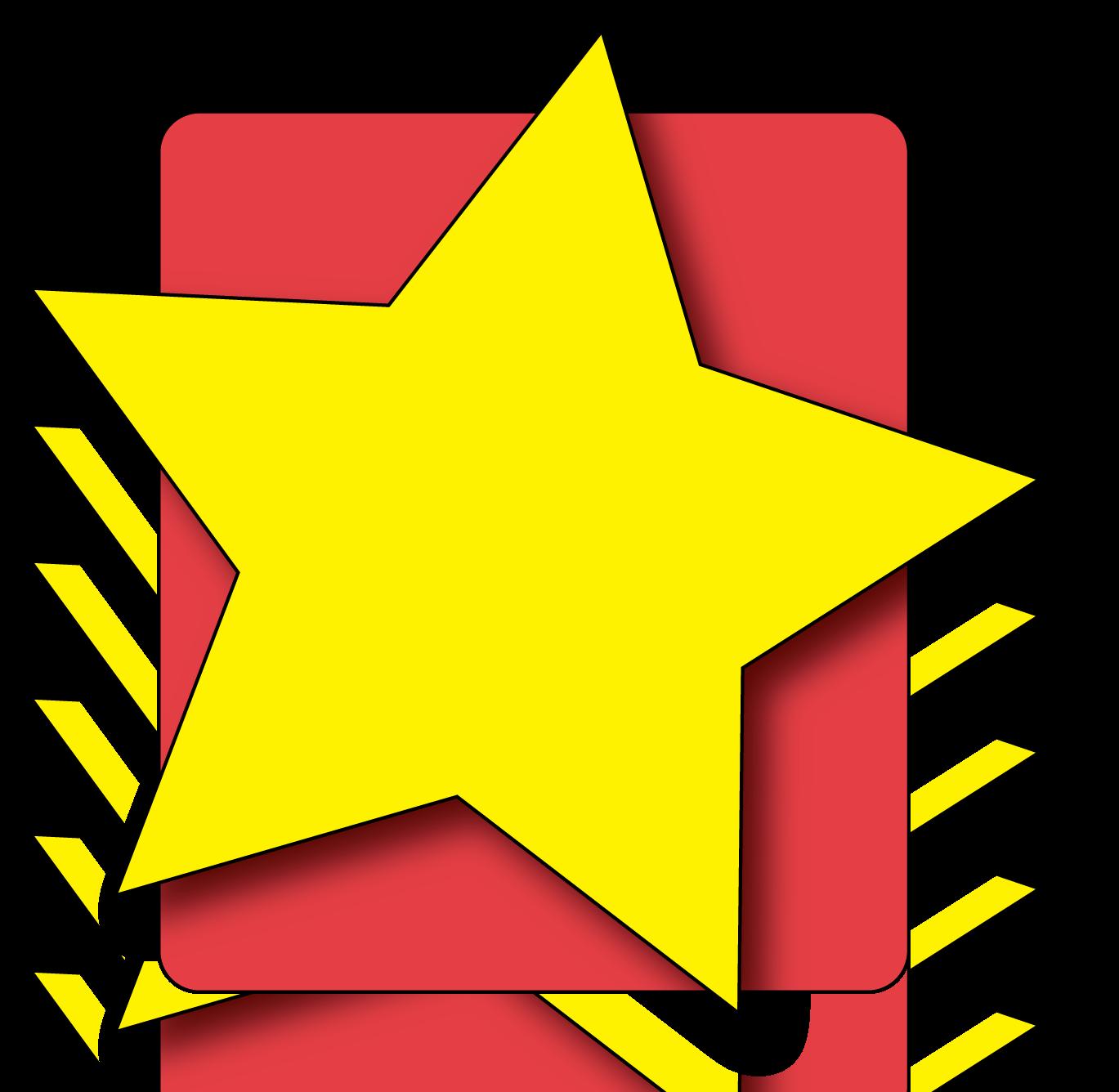 1369x1336 Hollywood Star Clip Art