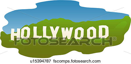 450x222 Hollywood Sign Clipart And Illustration. 6,502 Hollywood Sign Clip