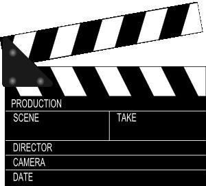 300x272 Movie Clapper Board Clip Art