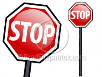350x263 Cartoon Stop Sign Clip Art