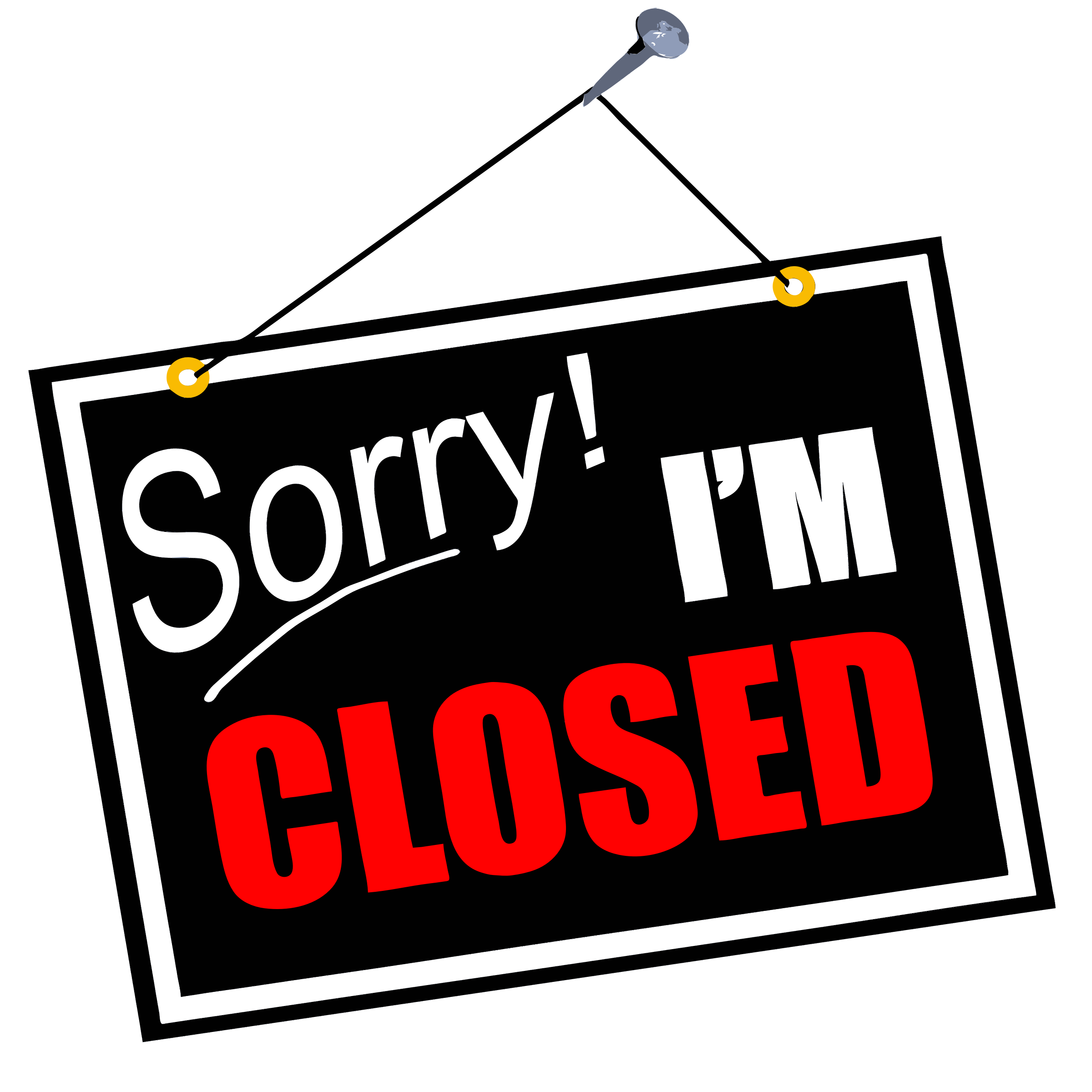 2400x2400 Closed Sign Clip Art