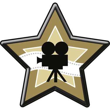 375x375 Hollywood Star Wall Decoration