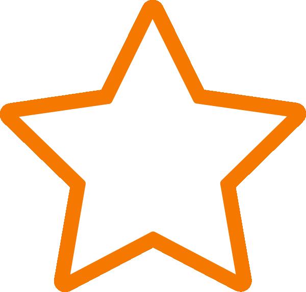 600x573 White Star Clip Art
