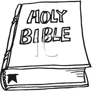 300x298 Free Clipart Image Black And White Bible