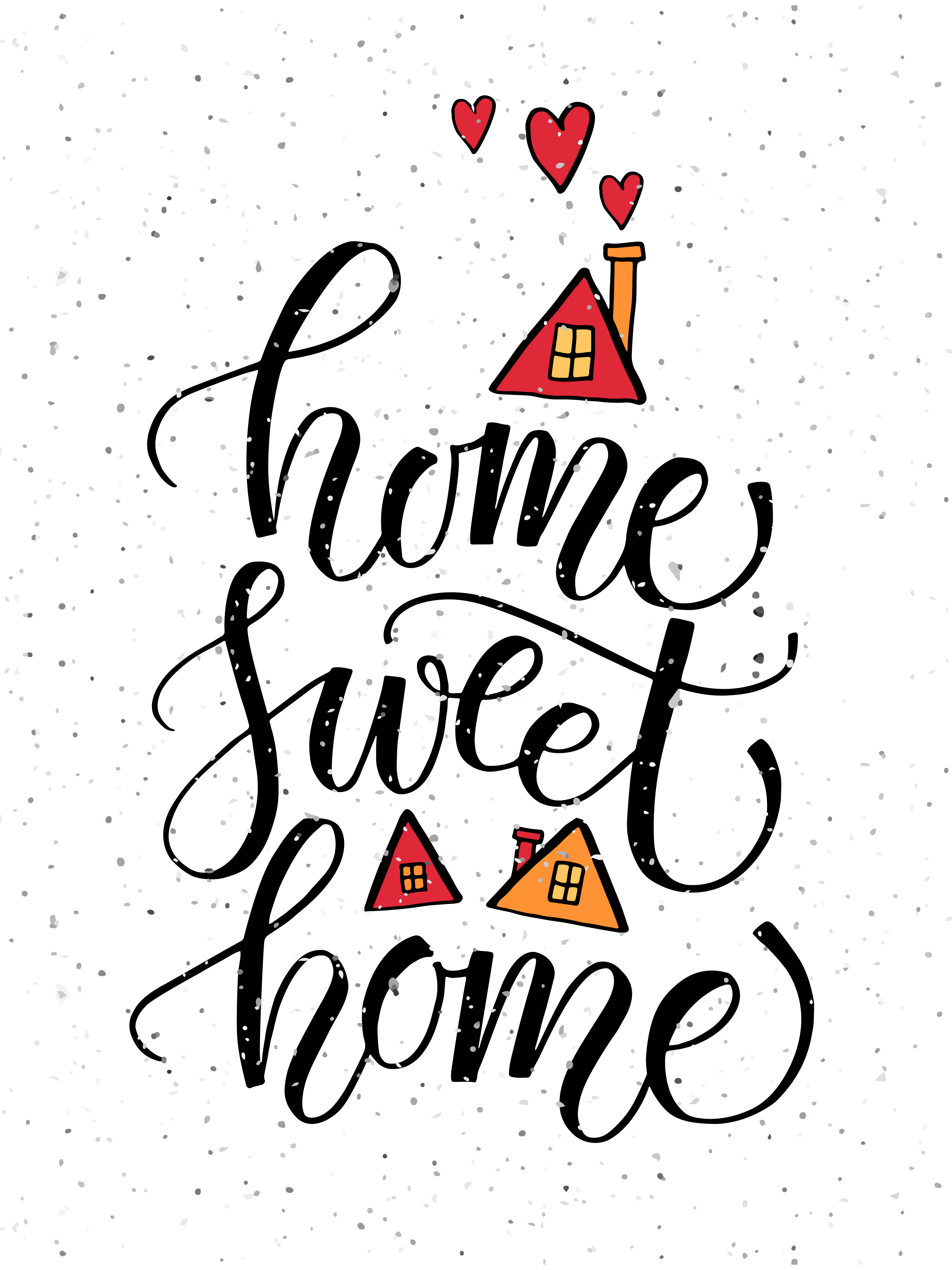 3750x5000 Home Sweet Home Typography Poster By Alps View Art