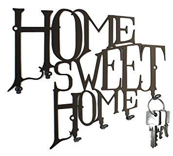 355x319 Home Sweet Home Key Hook Wall Key Holder