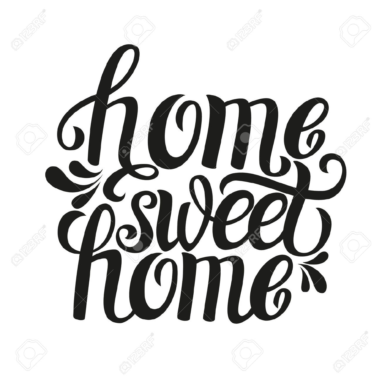 1300x1300 Typography Clipart Home Sweet Home