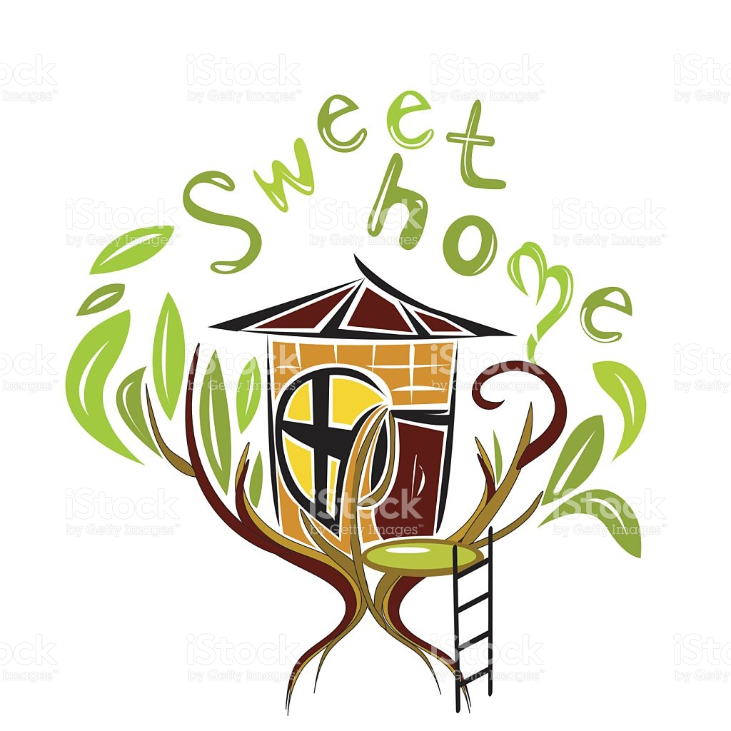 1024x1024 Bungalow Clipart Sweet Home