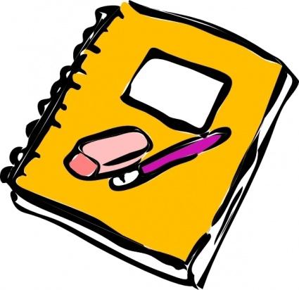 425x412 Paper and pencil homework pencil clipart