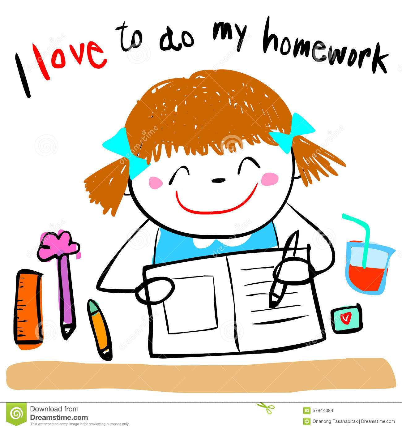 1300x1390 child doing homework clipart