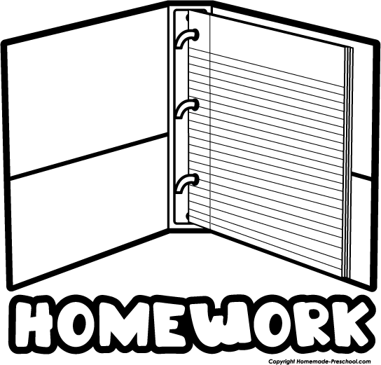 544x521 Homework Clipart Black And White Free Images