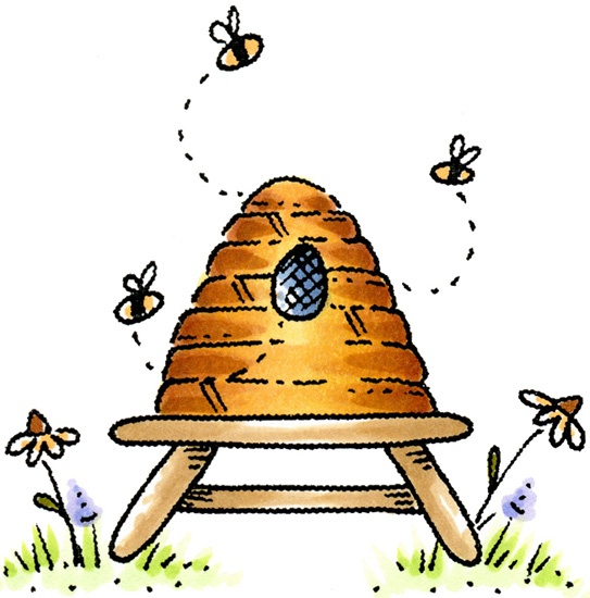 543x550 Best Beehive Clipart