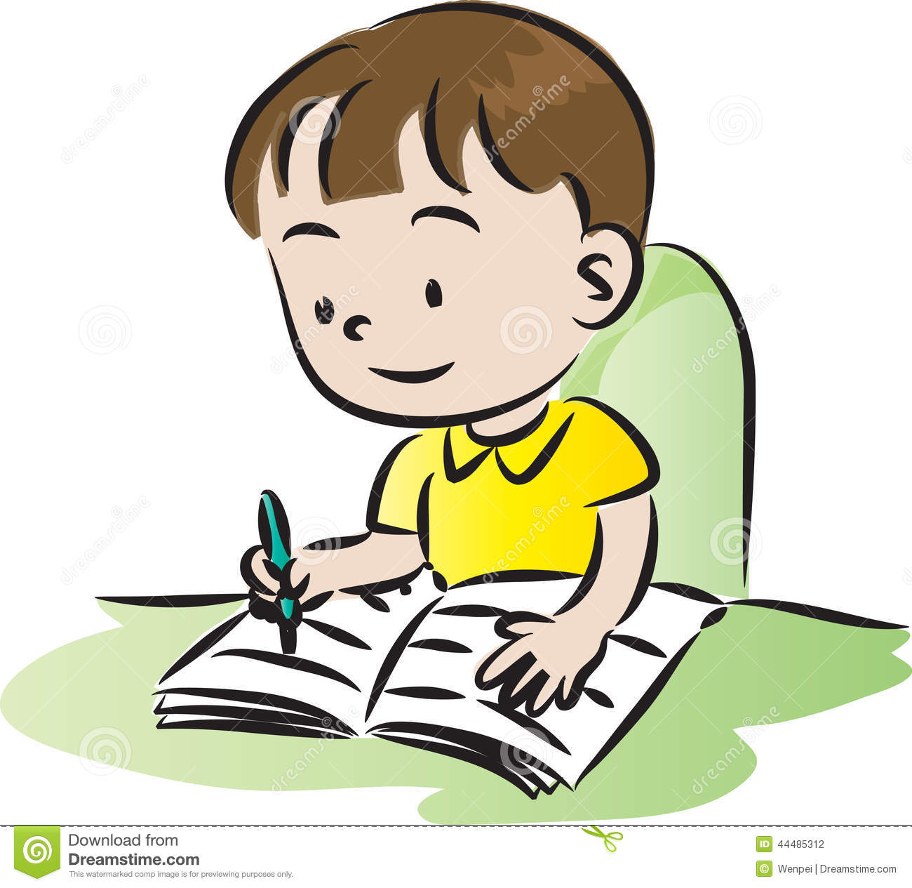 1300x1265 Child Doing Homework Clipart