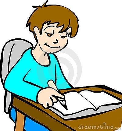 400x430 Child Doing Homework Clipart