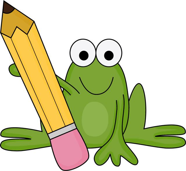 640x590 Homework Clipart Frog