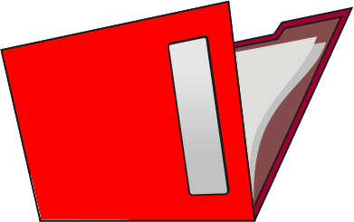 391x245 Red Folder Clipart