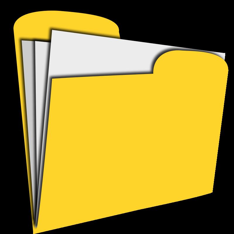 800x800 Yellow Clipart Pocket Folder