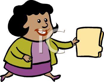 350x276 African American Businesswoman Carrying A Folder