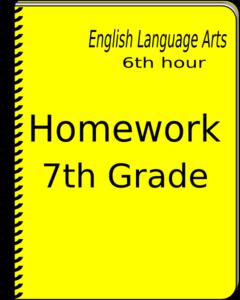 240x300 Homework Notebook Clip Art