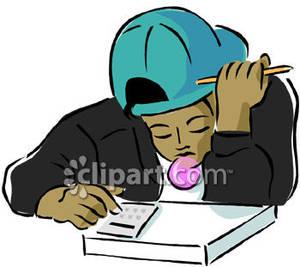 300x267 American Boy Doing Math Homework