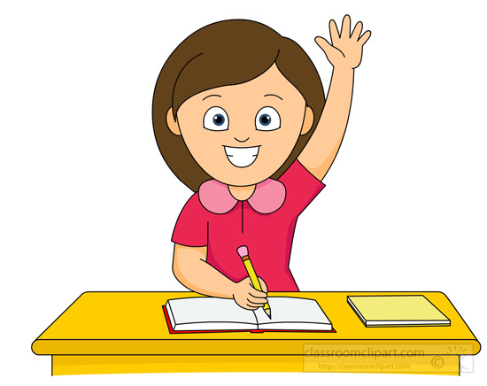 550x436 Student Raising Hand Clipart