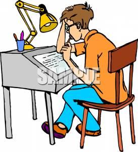 273x300 Boy Doing Homework