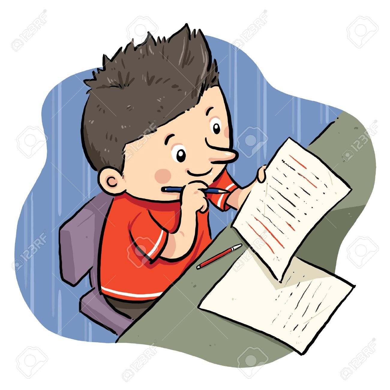 1300x1300 Children Doing Homework Clipart