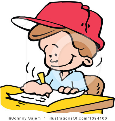 400x420 Boy Turning In Assignment Clipart
