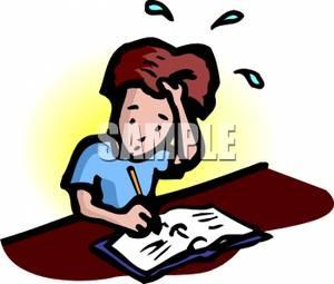 300x255 Homework Stress Clipart