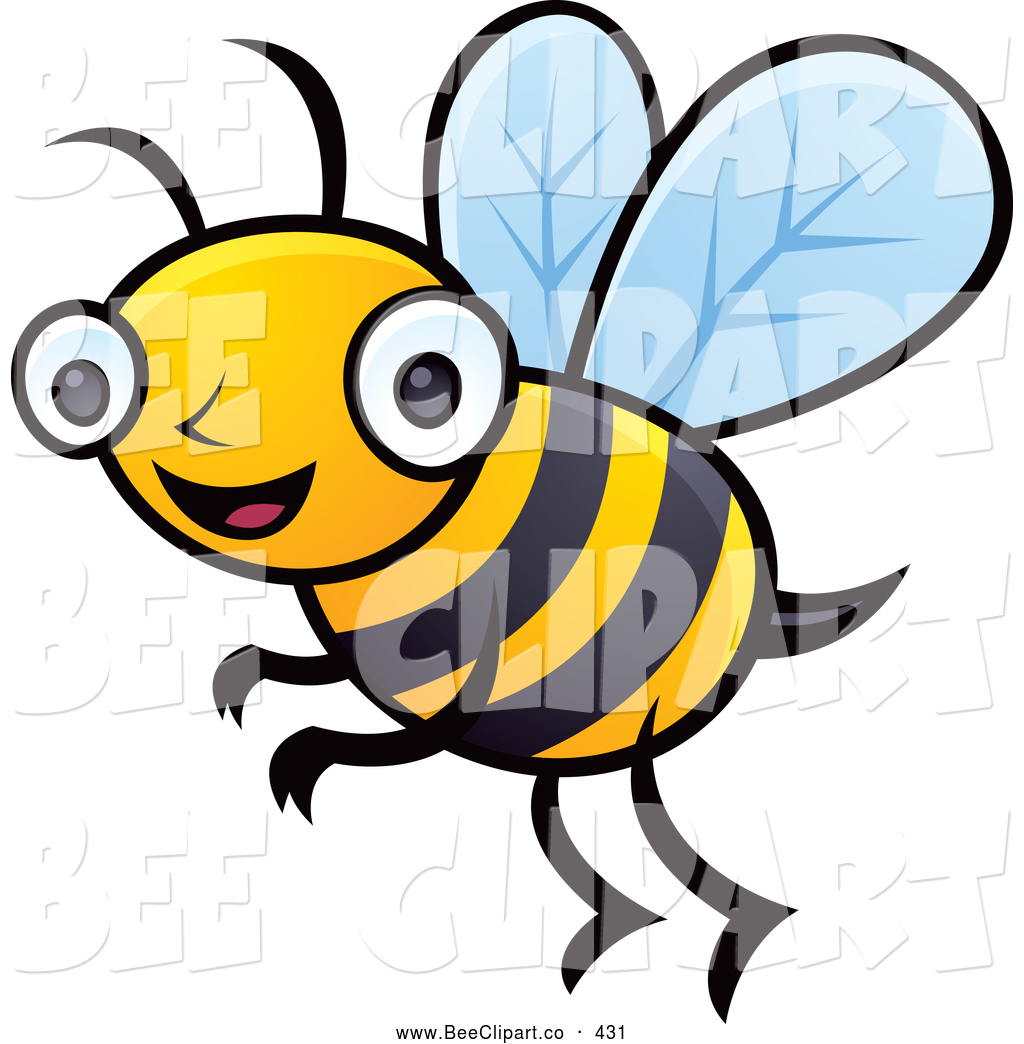 1024x1044 Cartoon Vector Clip Art Of A Friendly Happy Honey Bee By John