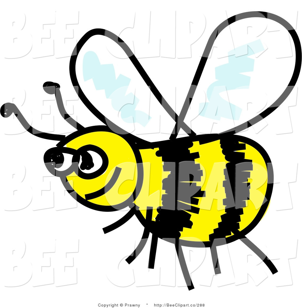 1024x1044 Clip Art Of A Happy Yellow And Black Flying Honeybee By Prawny
