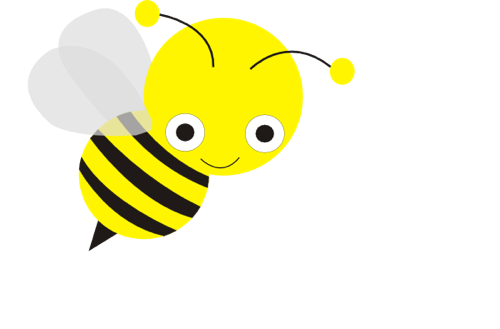 500x329 Cute Honey Bee Clip Art Clipart Panda