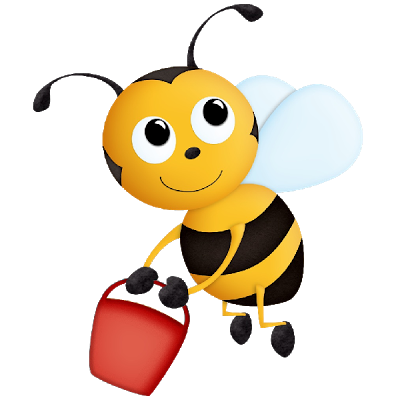 400x400 Funny Valentine Honey Bee Clipart