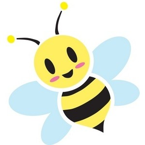 300x300 Honey Bee Clipart Image Sweet, Cute Cartoon Honey Bee Buzzin