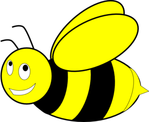 299x246 Black And Yellow Honey Bee Clip Art