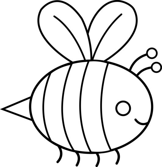 531x550 Bee Black And White Image Of Bee Clipart Black And White Honey