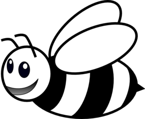 299x246 Bee Clipart Black And White
