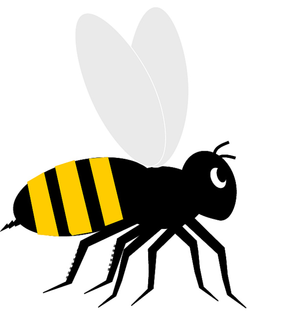 614x640 Bee Clipart Black And White Free Clipart Images Clipartbold