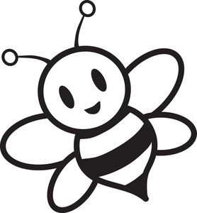 278x300 Honey Bee Clipart Black And White