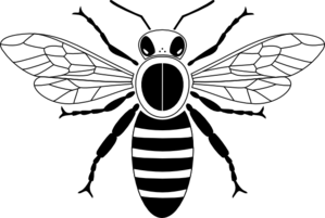 299x201 Honey Bee Pictogram Clip Art