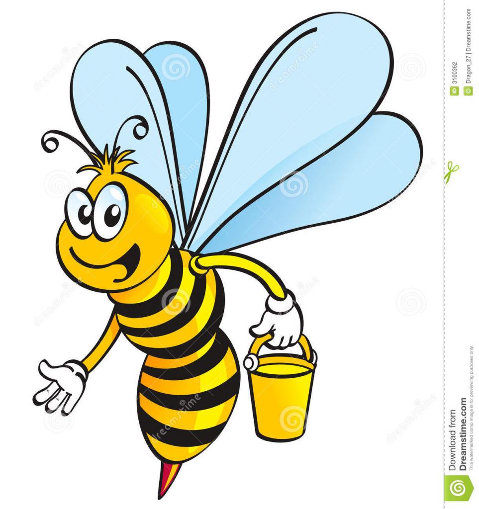963x1024 Cartoon Drawing Honey Bee Honey Bee Clipart